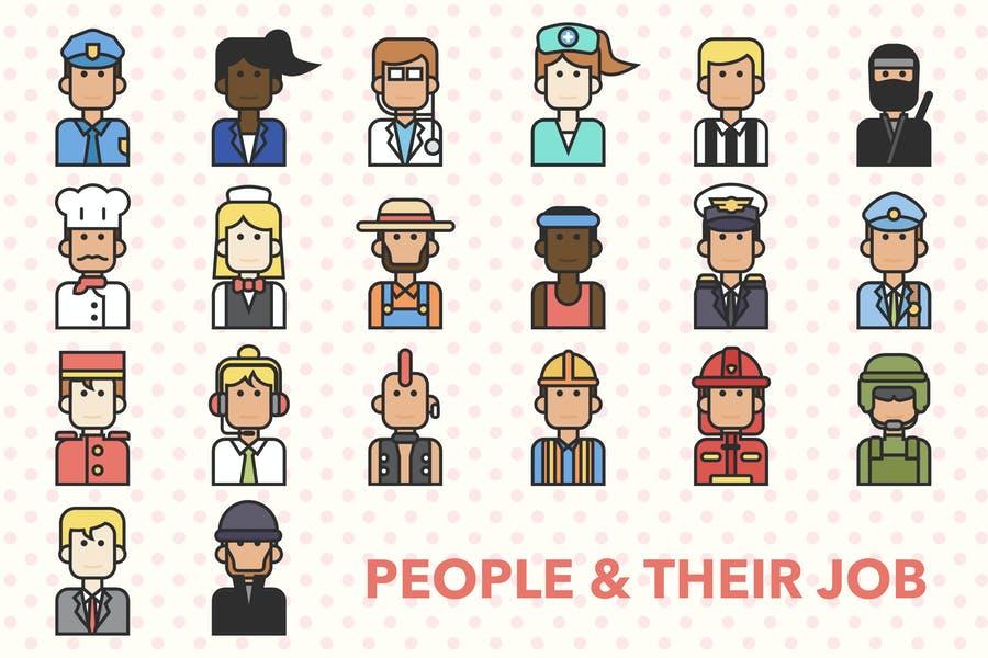 Unique Profession Icons