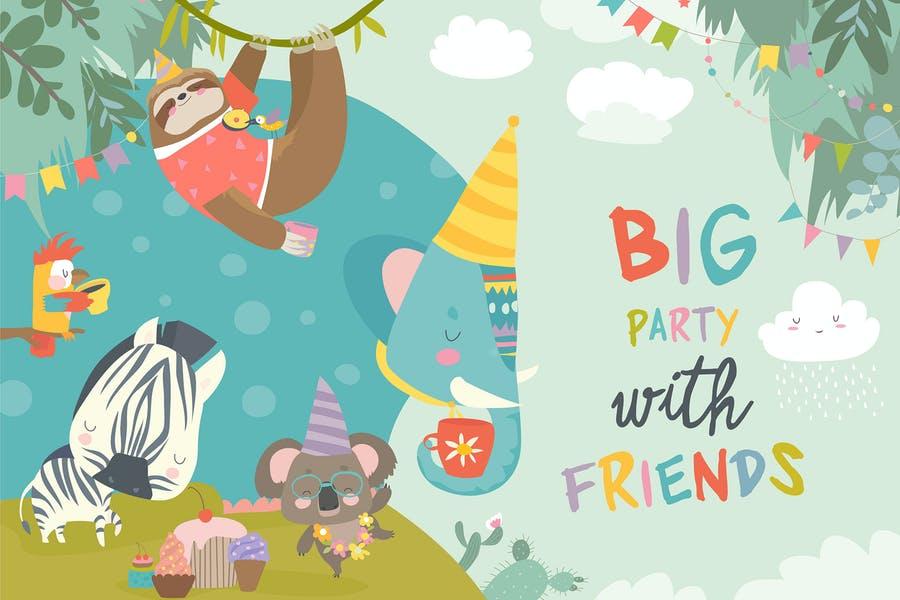 Vector Birthday party Illustration