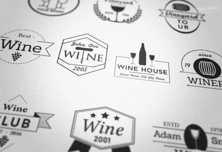 Vineyard Badges and Logo Templates
