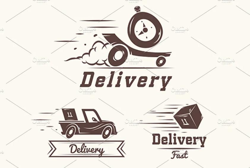 Vintage Delivery Services Logo Designs