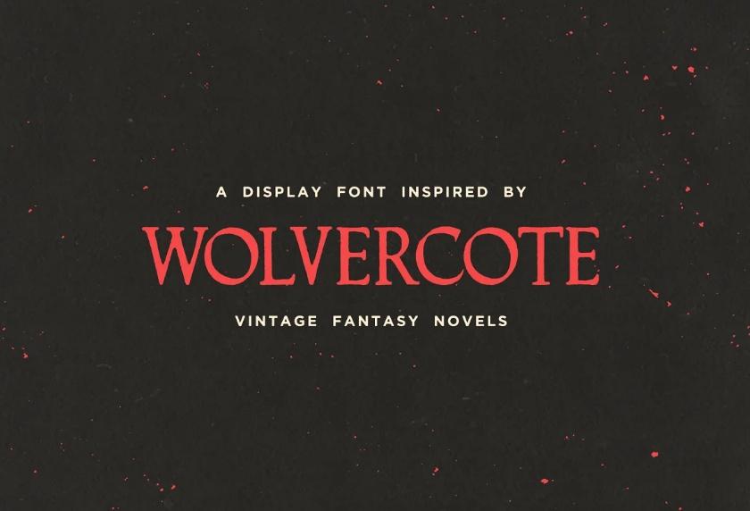 Vintage Fantasy Novel Typeface