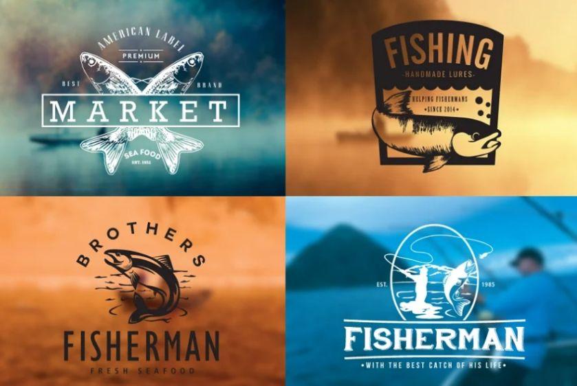 Vintage Fishing Badges and Logos