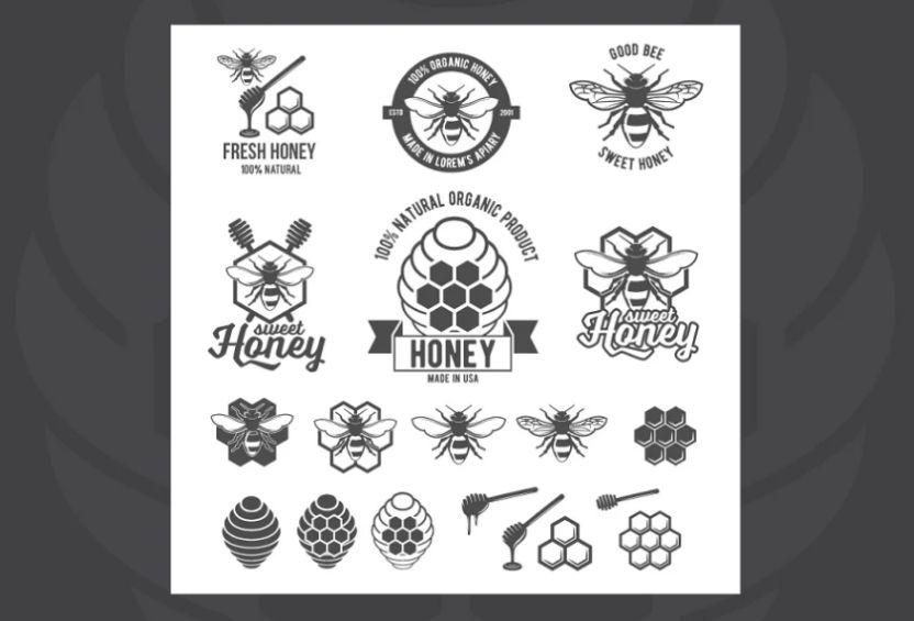 Vintage Honey Labels Set