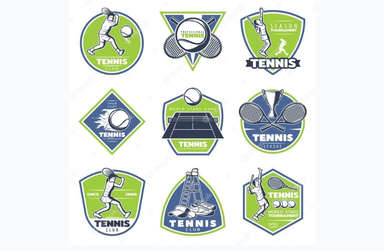 Vintage Tennis Logo Set