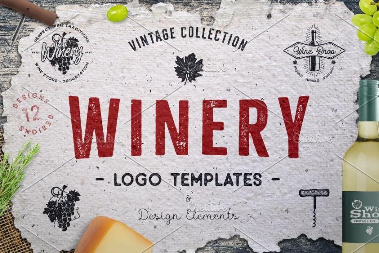Vintage Winery Logo Templates