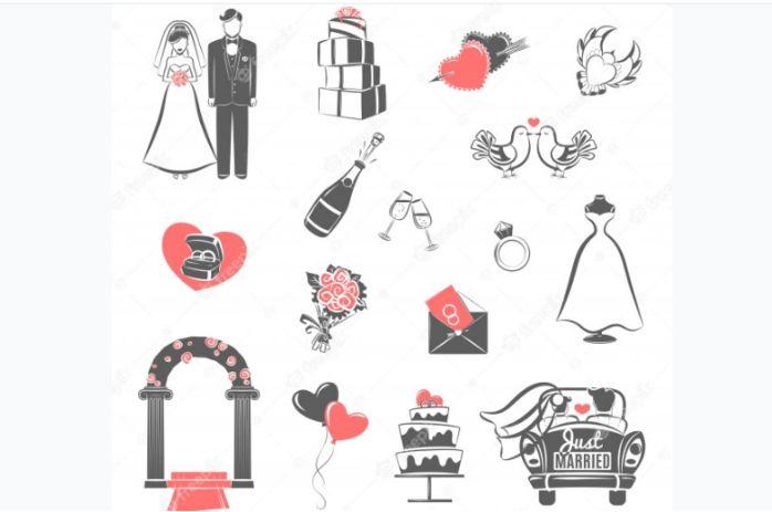 Wedding Concept Icons