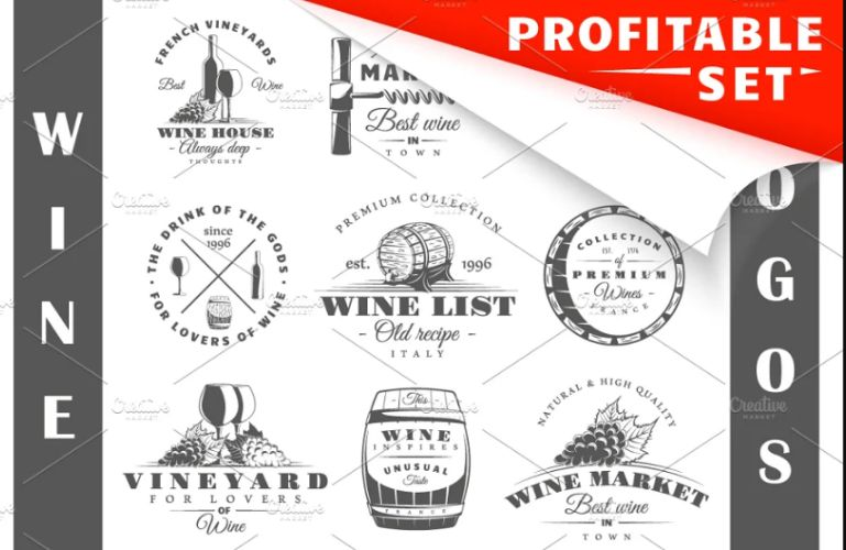Wine Logo Design Templates