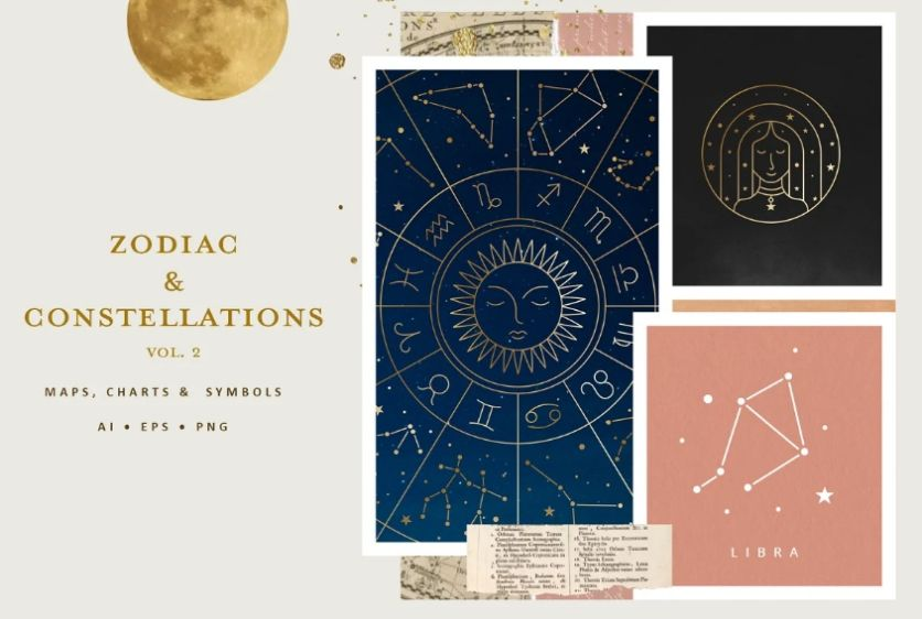 Zodiac and Constellation Style Icons