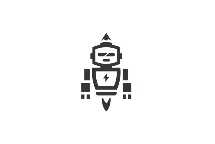 Artistic Robot Logo Design