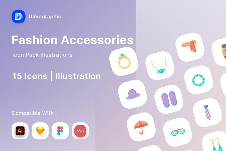 fashion Accessories Illustraton Icons