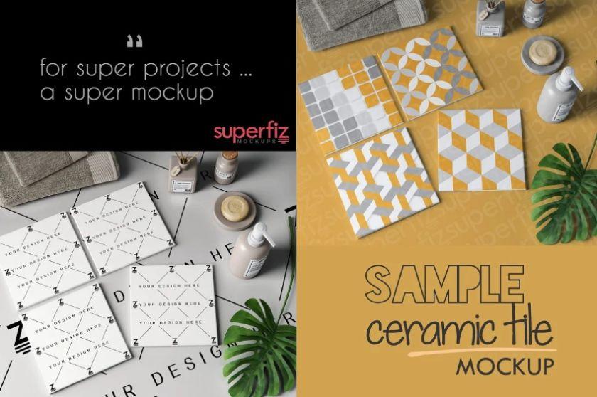 Ceramic Tile Mockup PSD