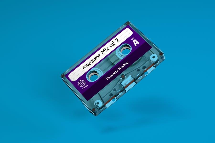 Clear Cassette Branding PSD