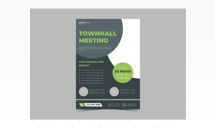 Free Town Hall Flyer PSD