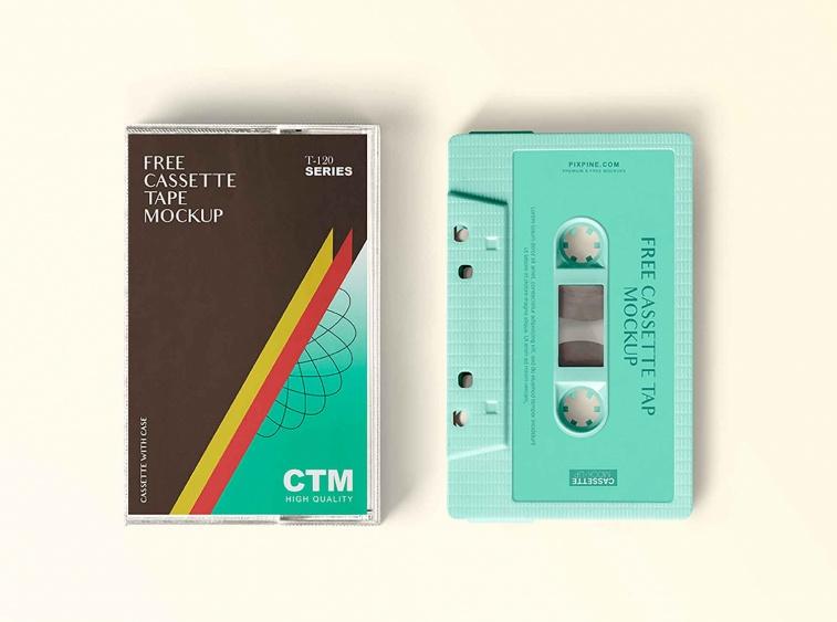 Free Vintage Cassette Mockup