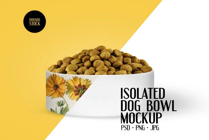 Isolated Pet Bowl Mockup PSD