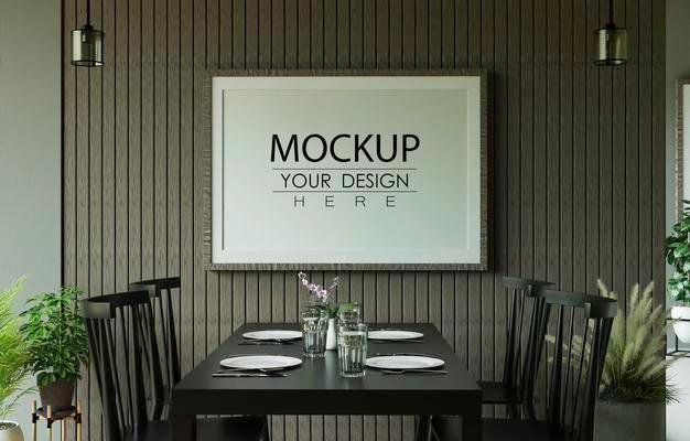 Kitchen Frame Mockup PSD