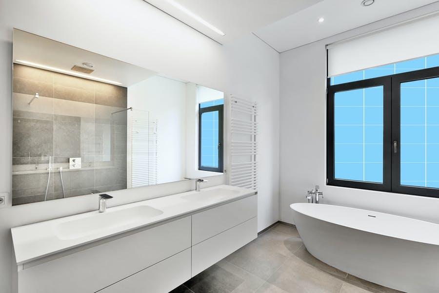 Luxurious Bathroom Mockup PSD