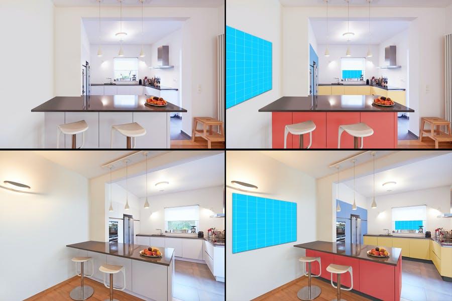 Modern Kitchen Mockup PSD