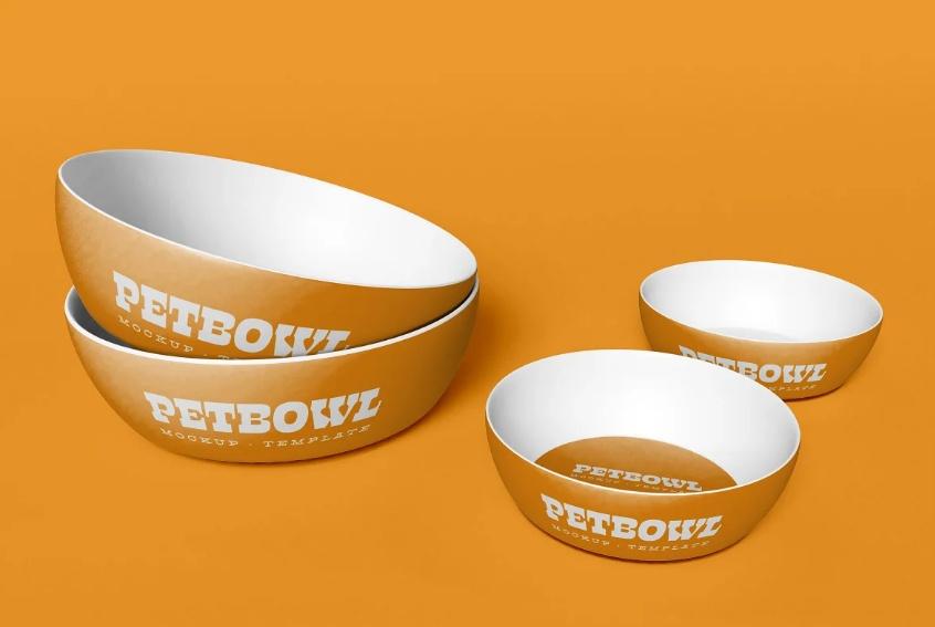 Pet Bowls Set Mock Up