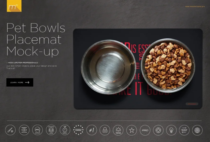 Pet Food Branding Mockup