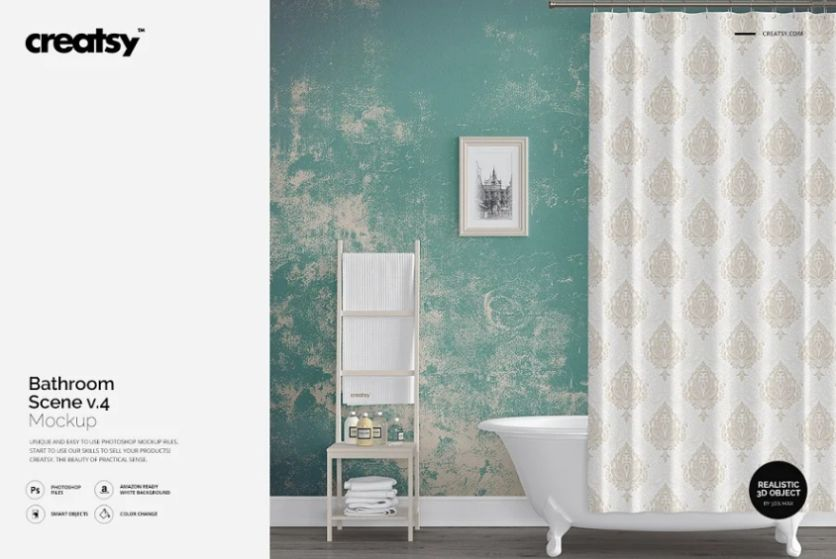Printable Bathroom Scene Mockup