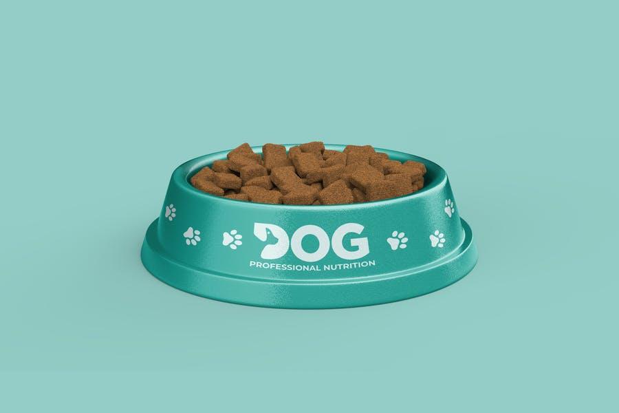 Professional Pet Food Bowl Mockup