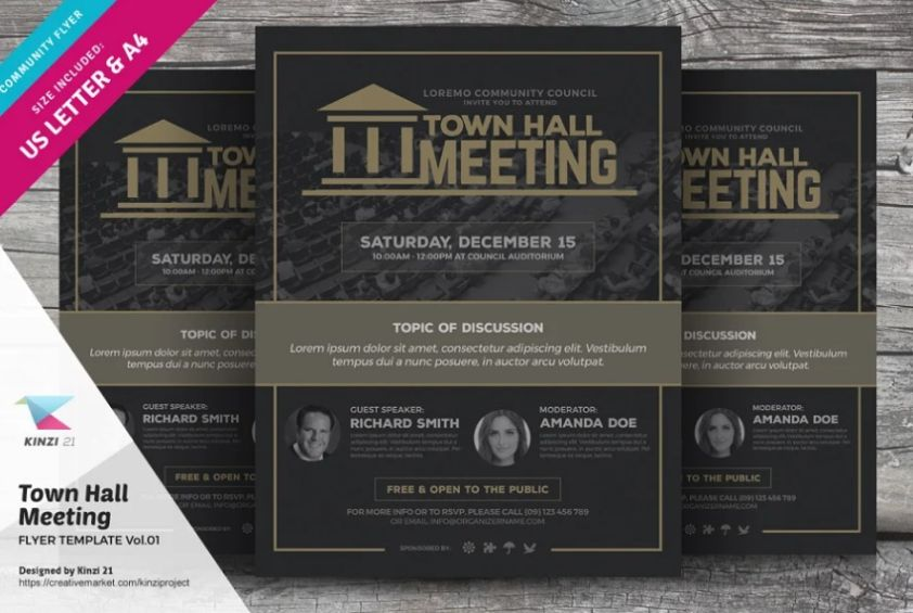 Professional Town Hall Meet Flyer