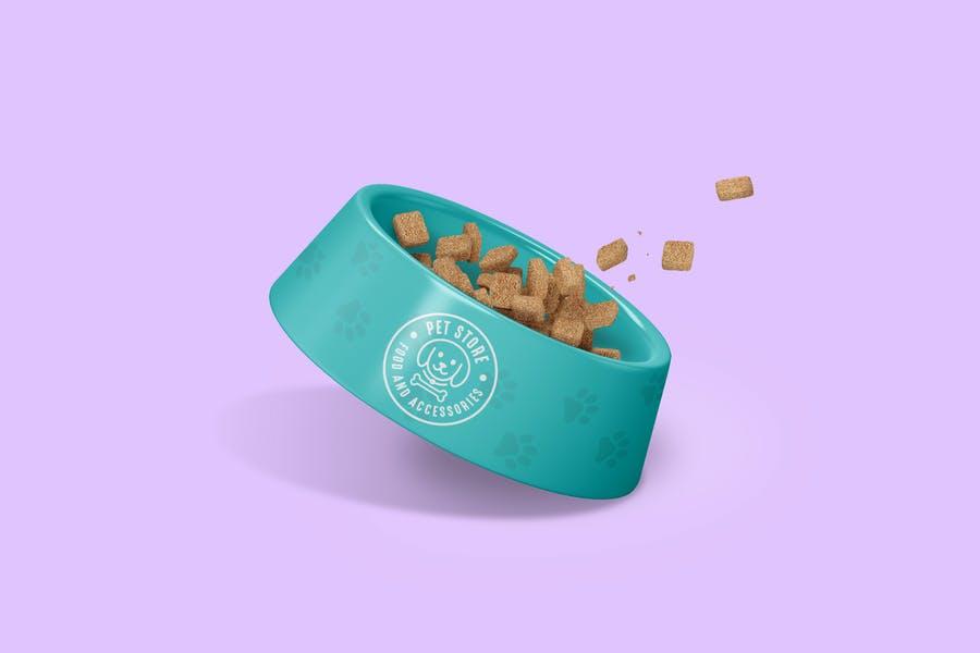 Realistic Pet Bowl Branding Mockup