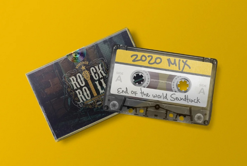 Retro Audio Tape Mockup PSD