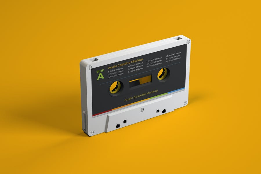 Retro Cassette Mockup PSD