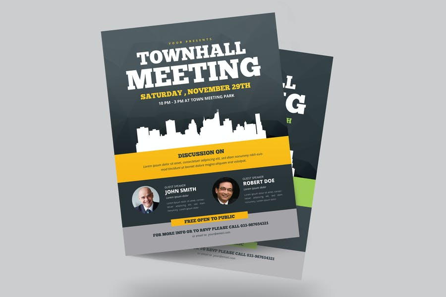 Simple Townhall Flyer Templates
