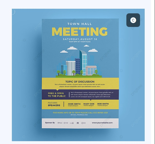 Simple Townhall Meeting Poster