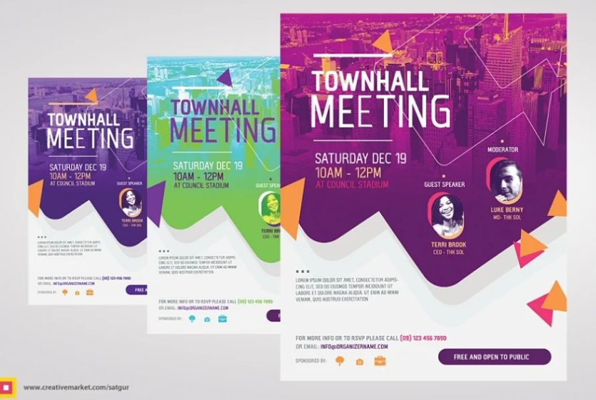 Town Hall Conference Flyers
