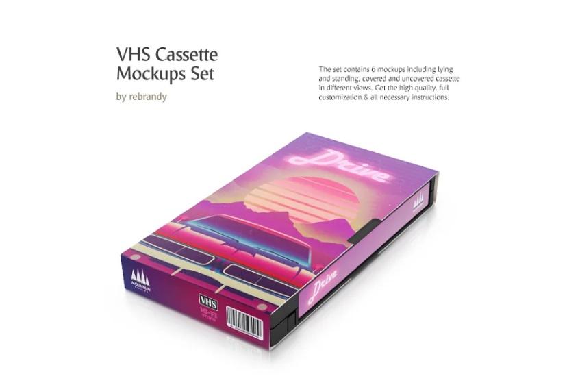 VHS Tape Mockup PSD