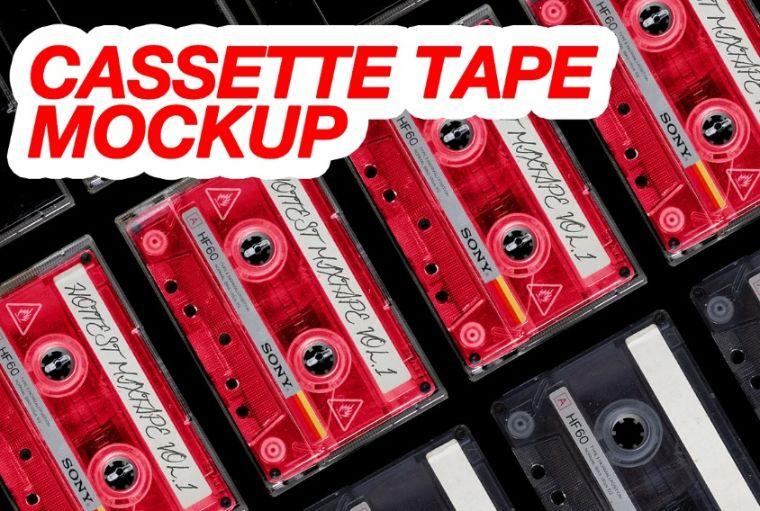 Vintage Audio Tape Mockup