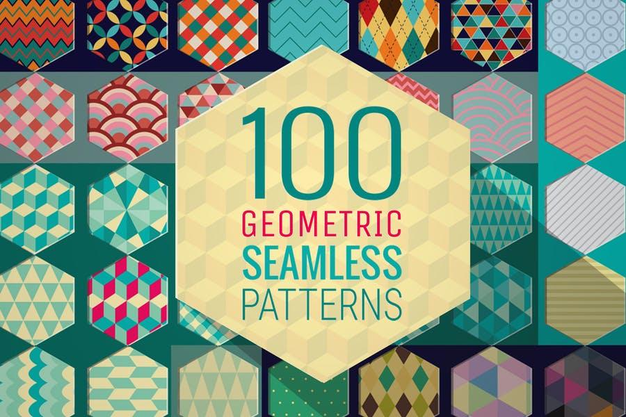 100 Seamless Geometric Pattern Designs