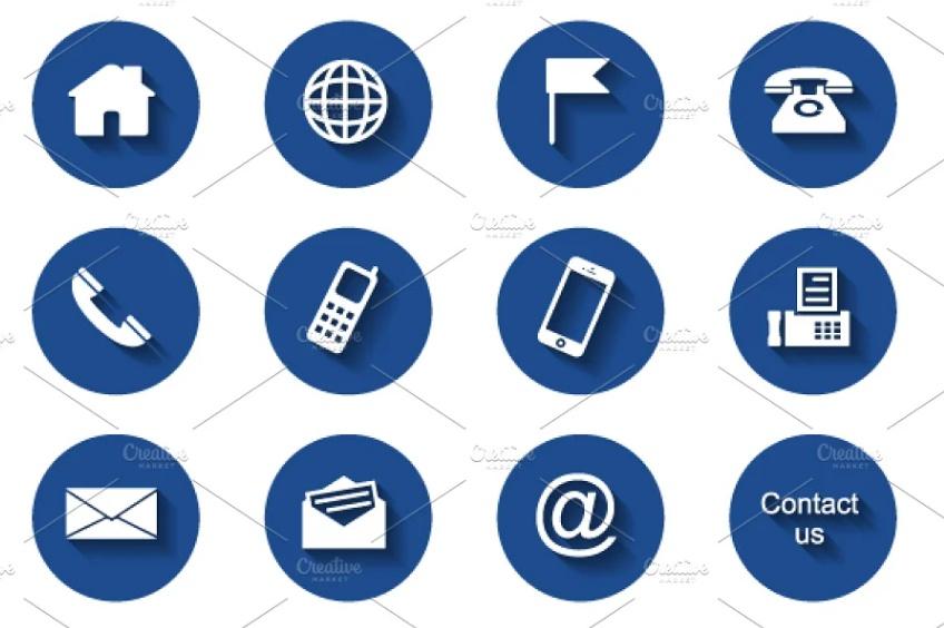 12 Round Contact UI Icons