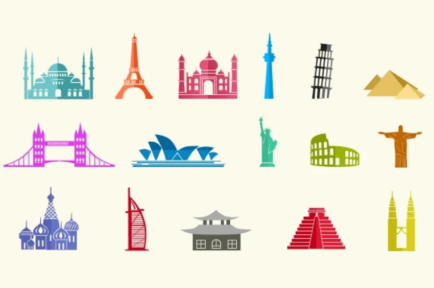 15 City Landmark Icons