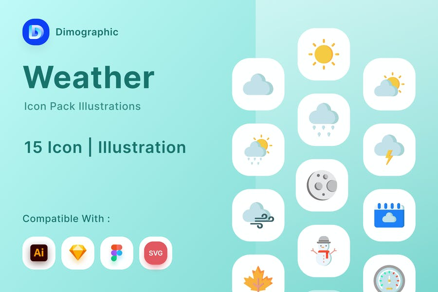 15 Weather Icon Pack Illustrations