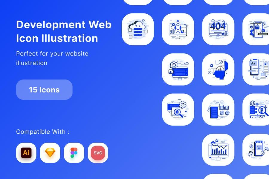 15 Web Development Illustrations