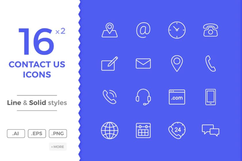 16 Contact Us Icons
