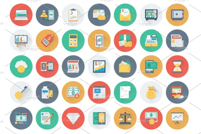 175 Vector Style Bank Icons