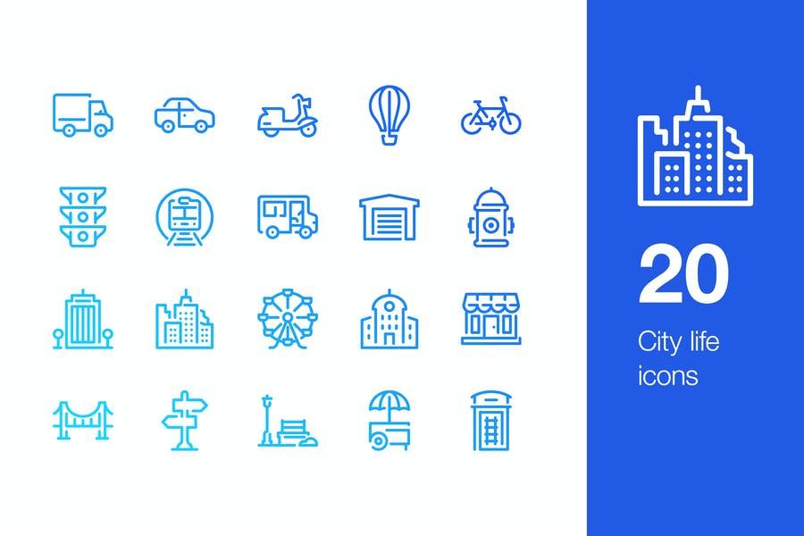 20 City Life Vector Designs