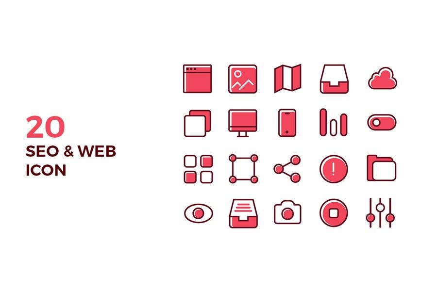 20 SEO Web Icons