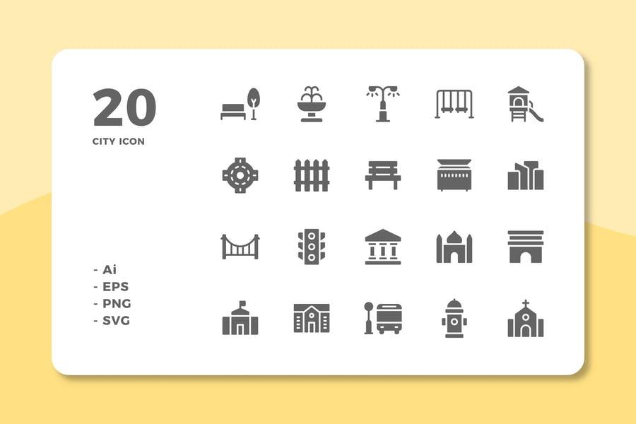 20 Unique City Design Icons