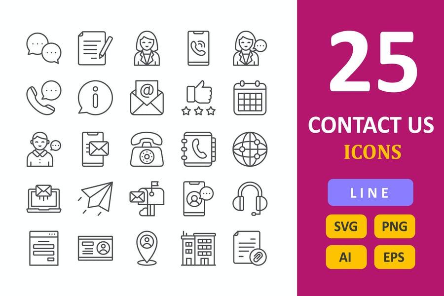 25 Unique Contact Us elements