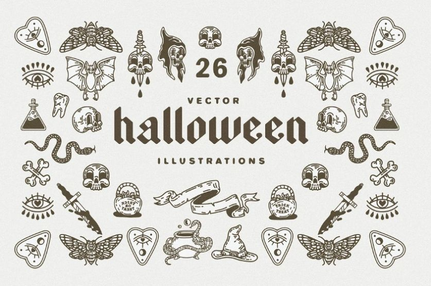 26 Halloween Vector Illustrations