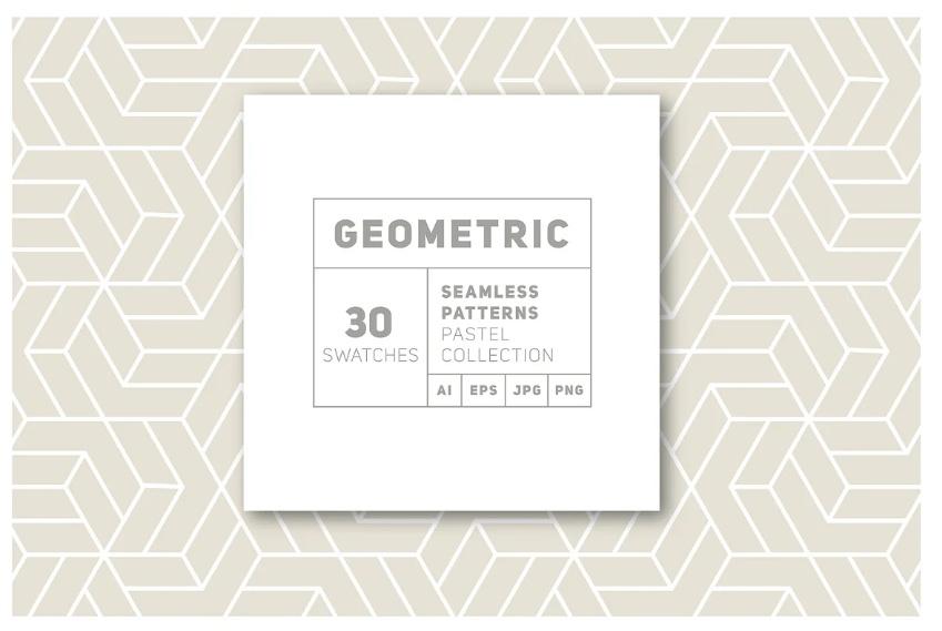 30 Geometric Seamless Pattern Designs