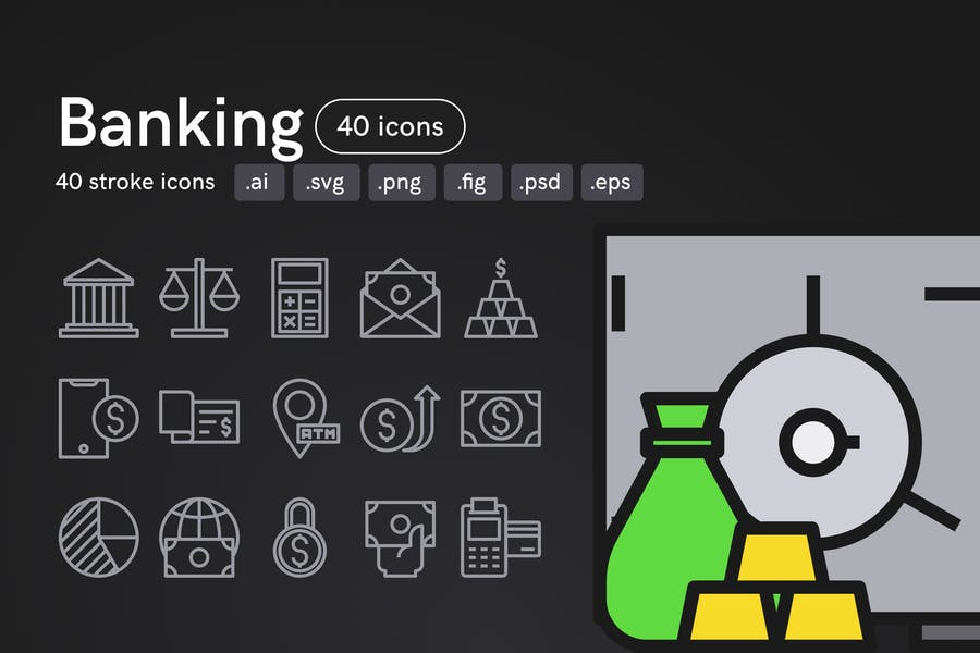 40 Editable Finance Icons