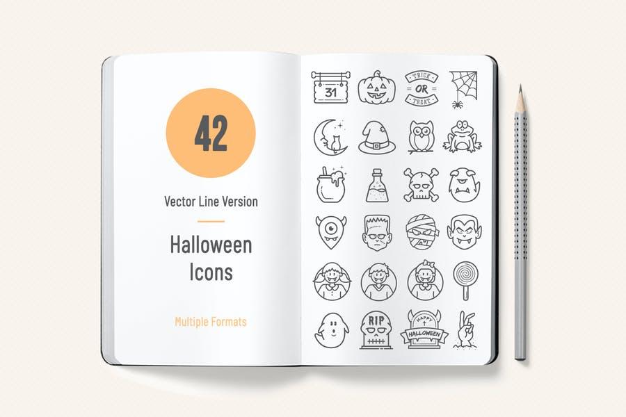 42 Creative Halloween Vector Elements